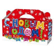 Новогодний подарок «Коробка Новогодняя» – Люкс 700г (картон)