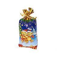 Новогодний подарок «Медведи на коньках» – Люкс 700г (худ. мешочек)