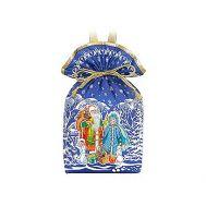 Новогодний подарок «Мешочек Дед Мороз синий» – Люкс 1000г (текстиль)