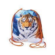 Новогодний подарок «Рюкзак Тигр Снежный на завязках» – Люкс 800г (текстиль)
