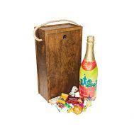 Новогодняя упаковка «Коробка Калядный бокс» 1000г(дерево)