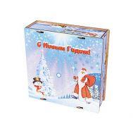 Новогодняя упаковка «Коробка Морозушко» 800-1000г(дерево)