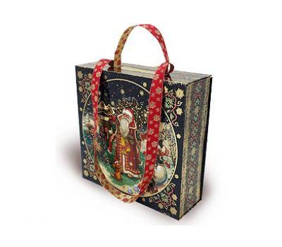 Новогодний подарок – Чемоданчик-сумка Новогодние гулянья (картон) 1500г – Люкс