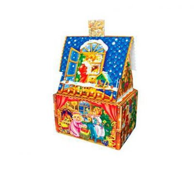 Новогодний подарок – Коттедж синий (МГК) 1500г – Топ