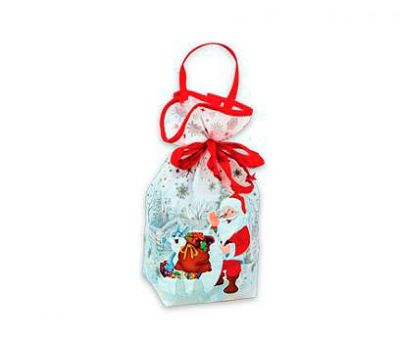 Новогодний подарок – Мешочек белый (малый) (текстиль) 800г – Хит