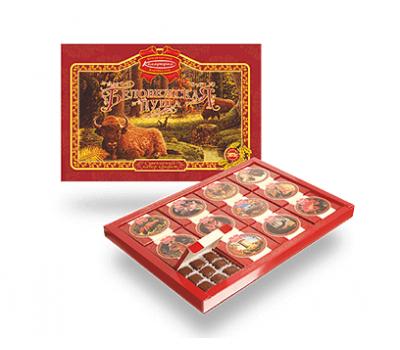 Наборы конфет на Новый год Беловежская пуща 1060г