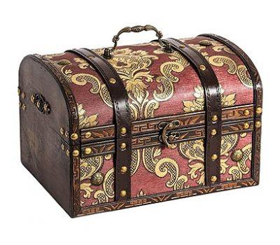 Новогодний подарок «Сундук Антик дворцовый» – Идеал 1000г (дерево)