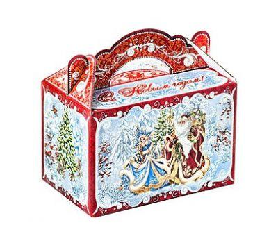 Новогодний подарок «Чемоданчик Снегурочка и Дед Мороз» – Идеал 1200г (мгк)