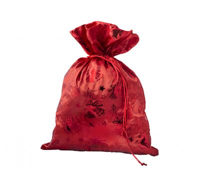 Мешочек Деда Мороза, текстиль 1000г Люкс