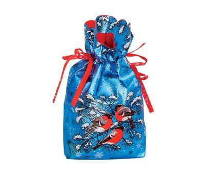 Мешочек Снегири синий, текстиль 1000г Вип