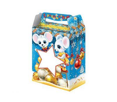 Новогодний подарок «Настроение» с окном – Престиж 700г (картон)