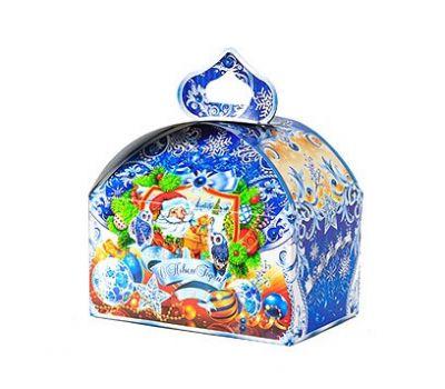 Новогодний подарок «Сундучок Серебристый» – Престиж 700г (картон)