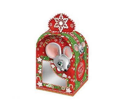 Новогодний подарок «Коробочка Вязаная» с окном – Вип 700г (картон)