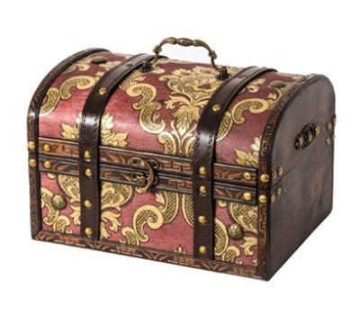 Новогодняя упаковка «Сундук Антик дворцовый» 1000-1500г (дерево)