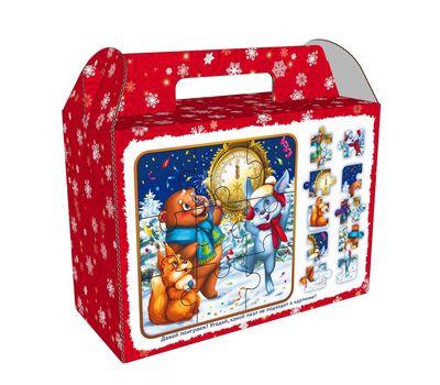 Новогодняя упаковка «Чемодан Пазлы» 1200-1500г