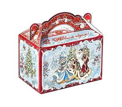 Новогодний подарок «Чемоданчик Снегурочка и Дед Мороз» – Волшебный 1200г (мгк)