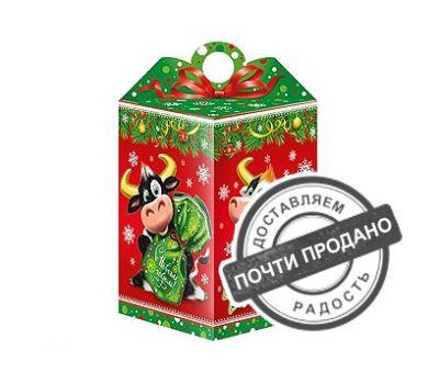 Новогодняя упаковка «Два Бычка» 700-1000г (картон)