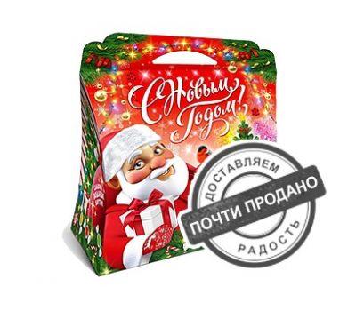 Новогодняя упаковка «Хеллоу Санта красный» 1000-1500г (картон)