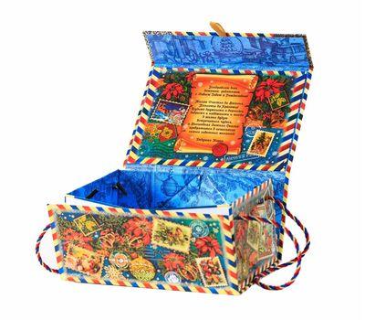 Новогодняя упаковка «Магнитная коробка Лично в руки» 800-1200г