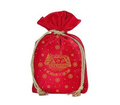 Новогодний подарок «Мешочек бархатный красный» – Волшебный 1200г (текстиль)