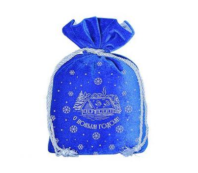 Новогодний подарок «Мешочек бархатный синий» – Волшебный 1200г (текстиль)