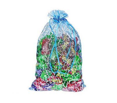 Новогодний подарок «Мешочек из органзы синий» – Волшебный 500г (текстиль)