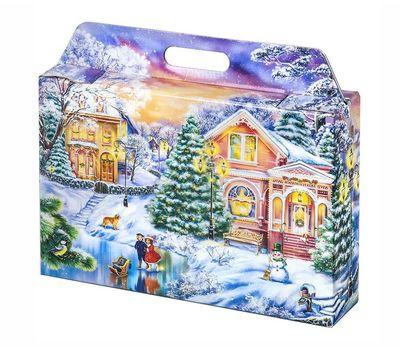 Новогодняя упаковка «Портфельчик Закат» 1500-2000г