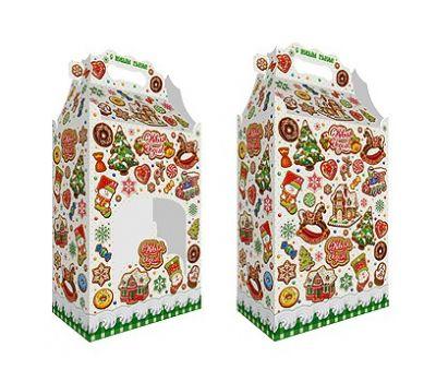 Новогодняя упаковка «Пряничный дом с окошком» 2500г