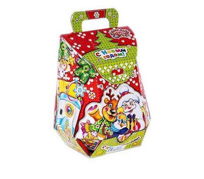 Новогодний подарок «Рюкзак Вязанный красный» – Волшебный 1200г (мгк)