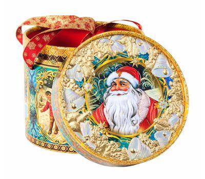 Новогодняя упаковка «Туба Серебряные колокольчики» 1000-1500г