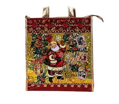 Новогодняя упаковка «Сумочка Ретро Золотая» 800-2500г (текстиль)