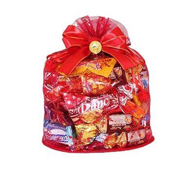 Подарок «Волшебный мешочек красный, органза» – Волшебный 800г (текстиль), фото 1